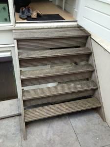 Hardhouten trap foto 1
